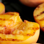 Grilled Peaches with Coconut Oil